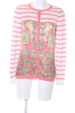 Escada Sport Cardigan pink-grün abstraktes Muster Business-Look