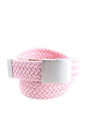 Escada Sport Braided Belt pink cable stitch casual look