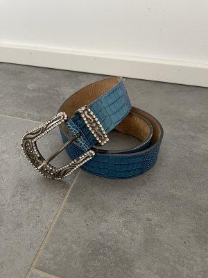 Escada Sport Cinturón de cuero azul