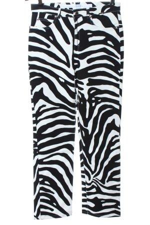 Escada Sport High Waist Trousers black-white animal pattern casual look