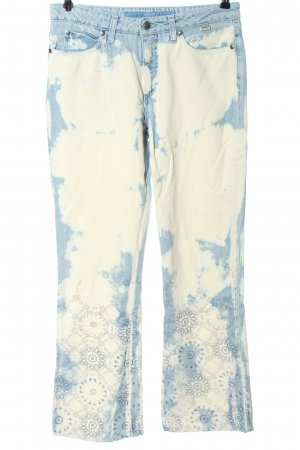 Escada Sport High Waist Jeans blue-natural white abstract pattern casual look