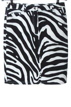 Escada Sport High Waist Skirt black-white animal pattern casual look