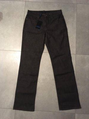 Escada Sport Jeansy z prostymi nogawkami ciemnobrązowy-czarno-brązowy