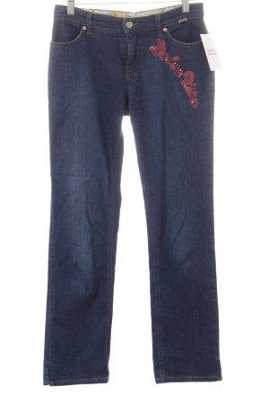 Escada Sport Jeans pink-dunkelblau Jeans-Optik