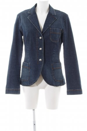 Escada Sport Blazer in jeans blu-marrone stile casual