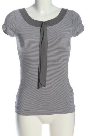 Escada Sport T-Shirt hellgrau Streifenmuster Casual-Look