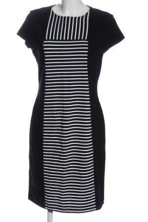 Escada Sport Shortsleeve Dress black-white striped pattern business style