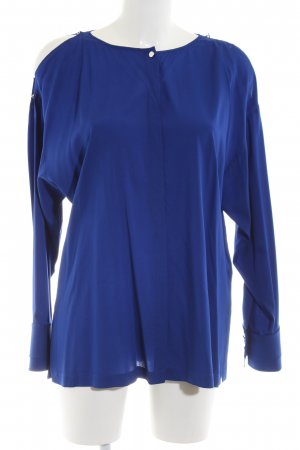 Escada Sport Langarm-Bluse blau Business-Look