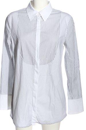 Escada Sport Langarmhemd weiß-schwarz Streifenmuster Casual-Look