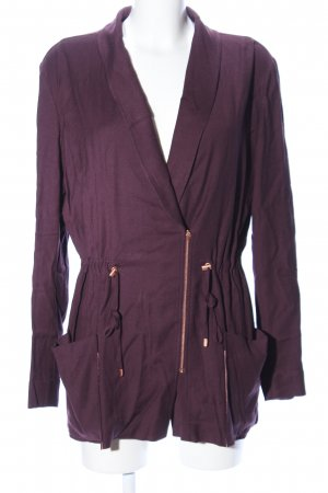 Escada Sport Chaqueta larga lila look casual