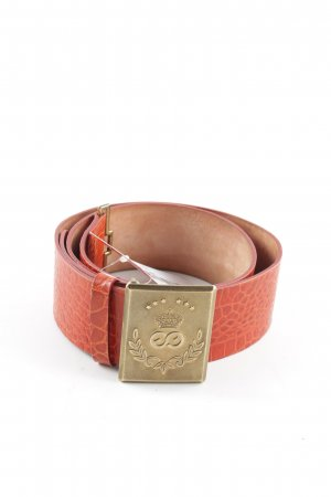Escada Sport Leather Belt light orange-gold-colored animal pattern elegant