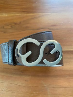 Escada Sport Cinturón de cuero color bronce Cuero