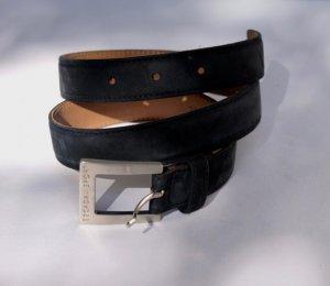 Escada Leather Belt dark blue leather