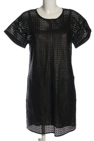 Escada Sport Skórzana sukienka czarny Imprezowy wygląd