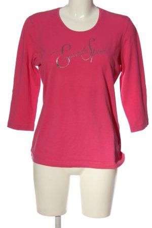 Escada Sport Longsleeve pink Schriftzug gedruckt Casual-Look
