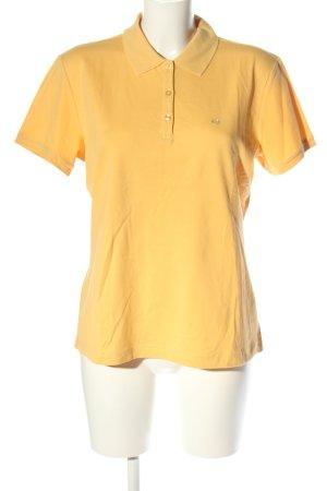 Escada Sport Polo-Shirt blassgelb Casual-Look