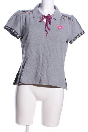 Escada Sport Polo-Shirt hellgrau meliert Casual-Look