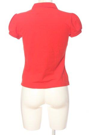 Escada Sport Polo-Shirt rot Casual-Look