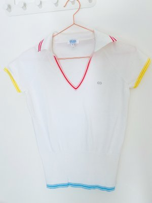 ESCADA Sport Polo Shirt weiß Tennis Shirt Gr. S