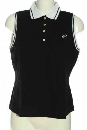 Escada Sport Polo Top black embroidered lettering casual look