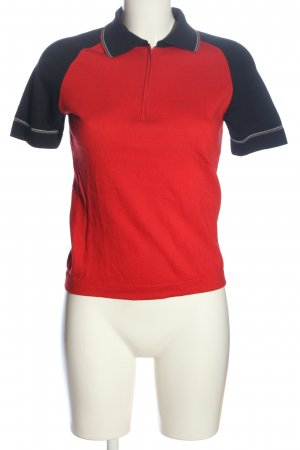 Escada Sport Polo Top rot-schwarz Casual-Look