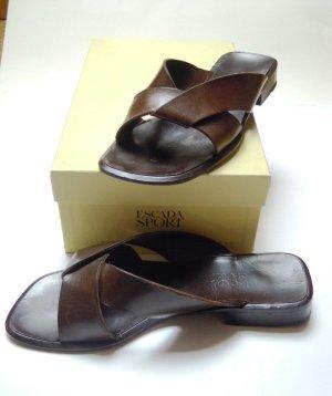 Escada Sport Sandale, Gr.37,5, braun