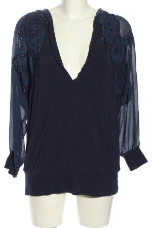 Escada Sport Schlupf-Bluse blau Business-Look