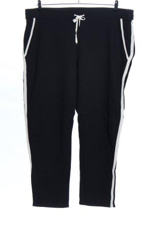 Escada Sport Sporthose schwarz-weiß Streifenmuster Casual-Look
