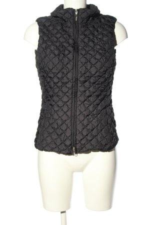 Escada Sport Gewatteerd vest zwart quilten patroon casual uitstraling
