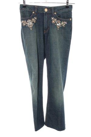 Escada Sport Straight-Leg Jeans blau Casual-Look