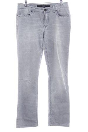 Escada Sport Straight-Leg Jeans hellgrau Metallelemente