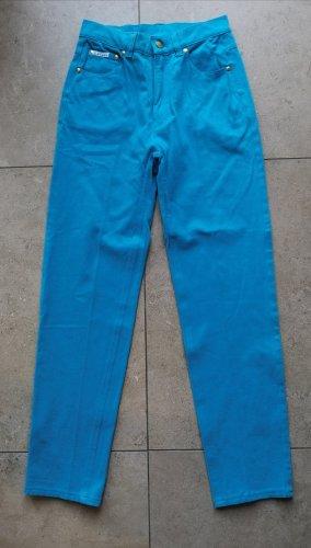 Escada Jeans a vita alta oro-blu fiordaliso