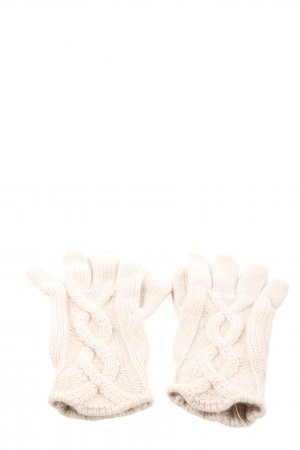 Escada Sport Knitted Gloves natural white cable stitch casual look