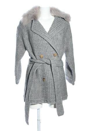 Escada Sport Knitted Coat light grey flecked casual look