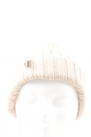 Escada Sport Knitted Hat white cable stitch casual look