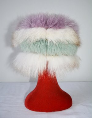 Escada Fur Hat multicolored pelt