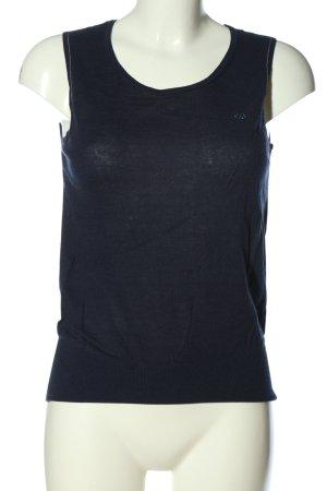 Escada Sport Gilet tricoté bleu style décontracté