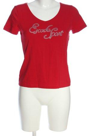 Escada Sport T-Shirt rot Casual-Look