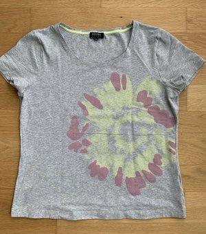 Escada Sport T Shirt Gr XL hell grau mit Aufdruck