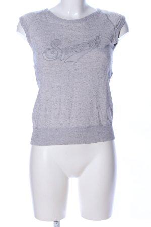 Escada Sport T-Shirt hellgrau meliert Casual-Look