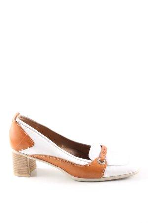Escada Sport Loafers wit-licht Oranje casual uitstraling