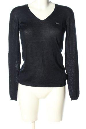 Escada Sport V-Ausschnitt-Pullover schwarz Casual-Look