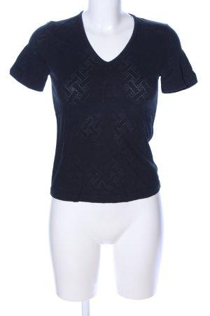 Escada Sport V-Ausschnitt-Shirt blau Casual-Look