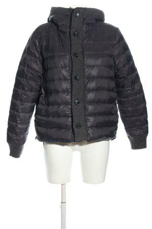 Escada Sport Reversible Jacket black-light grey quilting pattern casual look