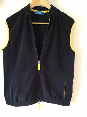 Escada Sport Fleece vest donkerblauw Polyester