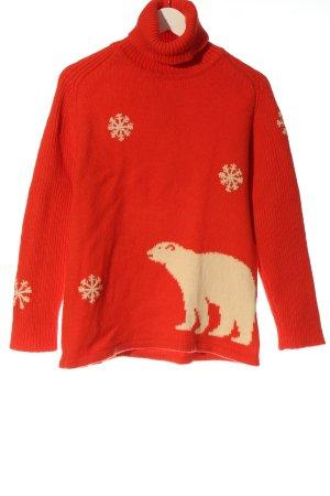 Escada Sport Wool Sweater red-cream themed print casual look