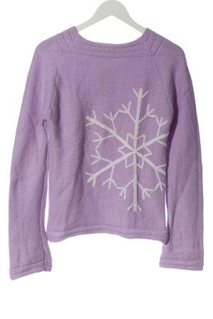 Escada Sport Wool Sweater lilac-white casual look