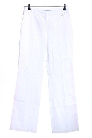 Escada Sporthose weiß-pink Streifenmuster sportlicher Stil