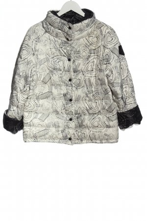 Escada Quilted Jacket white abstract pattern casual look