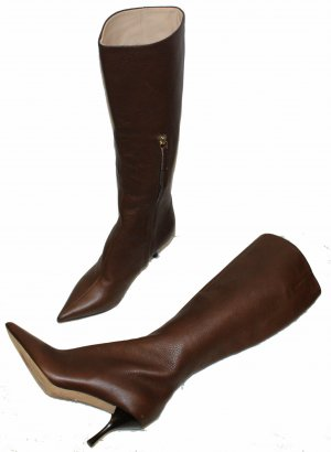 Escada Botas con tacón marrón Cuero